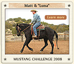 Matt and Luna Mustang Challenge Champion 2008