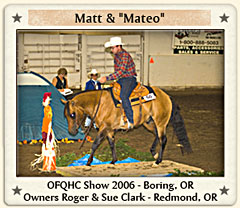 Matt and Mateo at OFQHC Show 2006